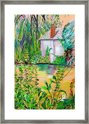 Sculptors Home And Studio On Oxfordshire Canal Framed Print by Mindy Newman