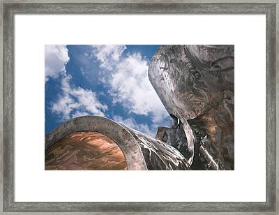 Sculpture And Sky Framed Print