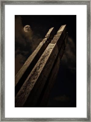 Sculpture By Moonlight Framed Print by Meirion Matthias