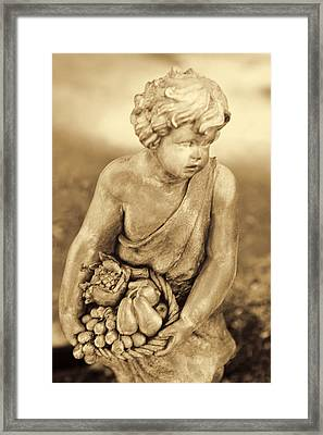 Sculpture In Sepia Framed Print by Linda Phelps