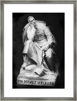 Sculpture Of Kaiser William II, Title Framed Print by Everett