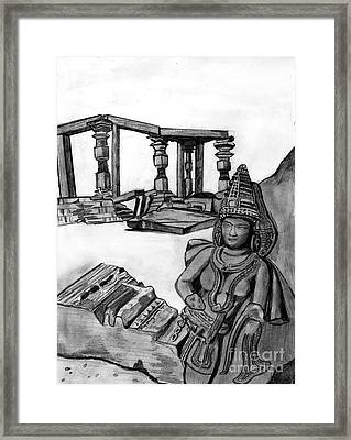Sculptures And Monuments Framed Print by Shashi Kumar
