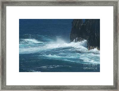 Sea - Mer - Ile De La Reunion Framed Print