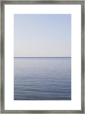 Sea And Horizon Framed Print by James French