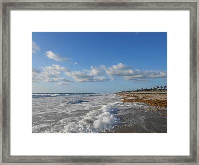 Sea And Sky Framed Print by Sheila Silverstein