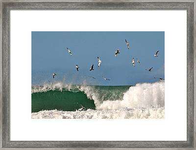 Framed Print featuring the photograph Sea And Spray by Johanne Peale