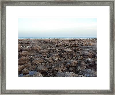 Sea And Stones.. Framed Print by Holly Georgina McQuoid