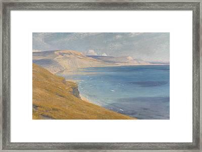 Sea And Sunshine   Lyme Regis Framed Print by Sir Frank Dicksee
