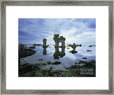 Sea Arch Framed Print by Bjorn Svensson and Photo Researchers