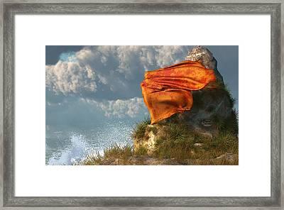 Sea Breeze Butterfly Framed Print by Daniel Eskridge