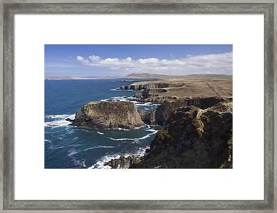 Sea Cliffs And Coastline Near Erris Framed Print
