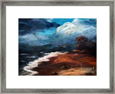 SEA Framed Print by Danuta Bennett