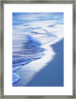 Sea Foam Framed Print by Suni Roveto