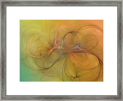 Sea Grass Sunset Framed Print by Betsy Knapp