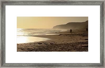 Sea In Sepia Framed Print by Heidi Smith