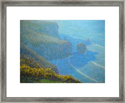 Sea Mist On Fallen Arch Framed Print