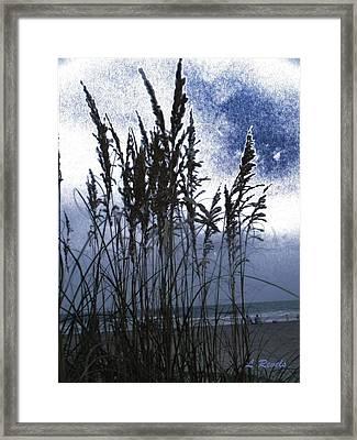 Sea Oats On Tybee Framed Print by Leslie Revels Andrews