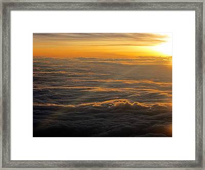 Sea Of Clouds Framed Print by Jyotsna Chandra