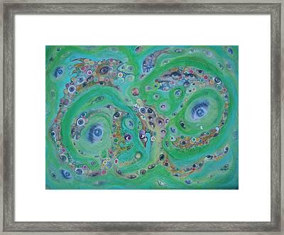 Sea Of Eyes Framed Print by Douglas Fromm