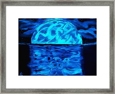 Framed Print featuring the painting Sea Of Troubles Black Light by Lisa Brandel