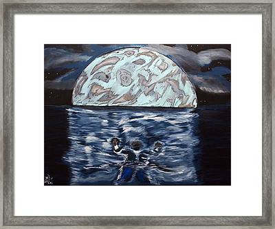 Framed Print featuring the painting Sea Of Troubles by Lisa Brandel