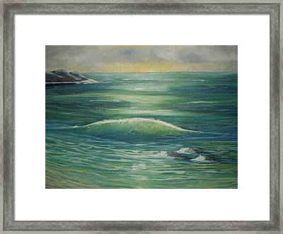 Sea Peace Framed Print by Paula Greenlee