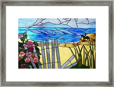 Sea Roses - Rosa Rugosa Framed Print by Jane Croteau