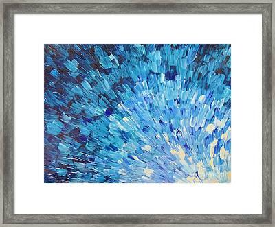 Sea Scales In Indigo Framed Print