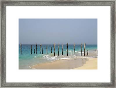 Sea Shore, Maio Island Framed Print by Axiom Photographic