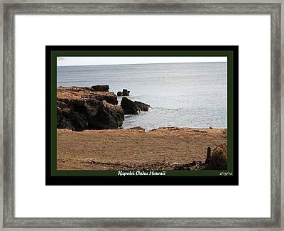 Sea Side  Framed Print by Elizabeth  Doran