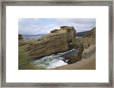 Framed Print featuring the photograph Sea Side by Jerry Cahill