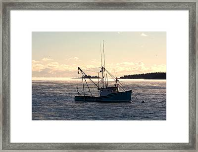 Framed Print featuring the photograph Sea-smoke On The Harbor by Brent L Ander