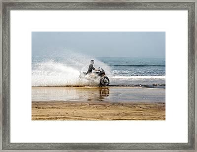 Sea Spray Framed Print by Kantilal Patel