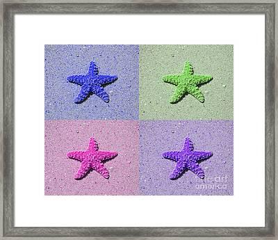 Sea Star Serigraph - 4 Stars Framed Print