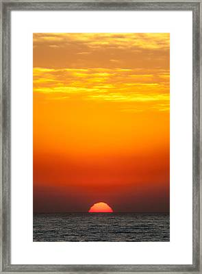 Sea Sunrise Framed Print