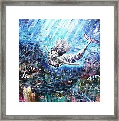 Sea Surrender Framed Print by Shana Rowe Jackson