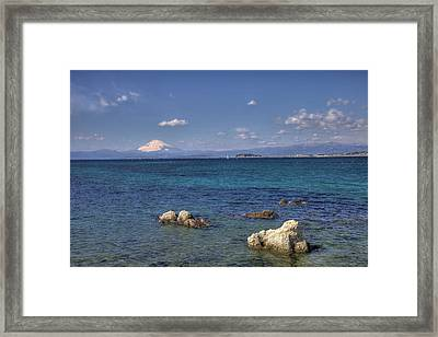 Framed Print featuring the photograph Sea by Tad Kanazaki