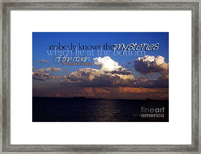 Framed Print featuring the photograph Sea The Mystery by Vicki Ferrari