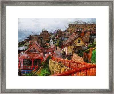 Sea Town Framed Print