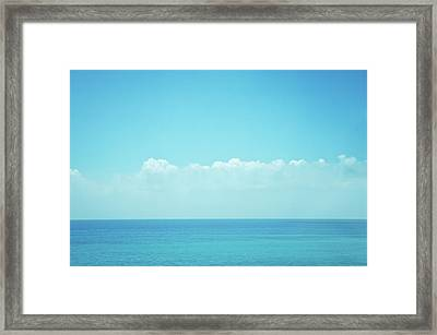 Sea With Sky And Clouds Framed Print by Yiu Yu Hoi