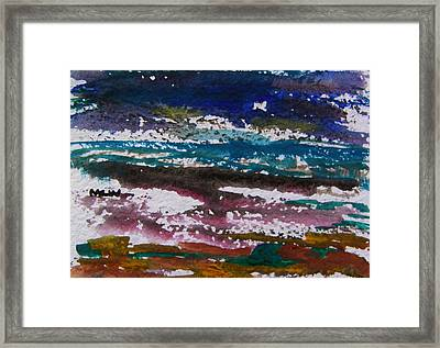 Seacoast Evening Framed Print by Mary Carol Williams