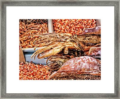 Seafood For Sale 2 In Chinatown Framed Print by Anne Ferguson