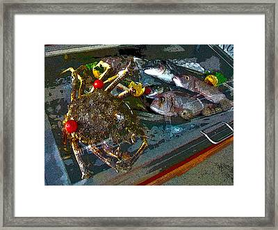 Seafood In Opatija -1 Framed Print by Rezzan Erguvan-Onal