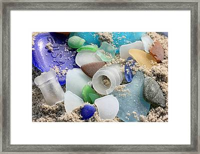 Seaglass Study IIi Framed Print by Mary Haber