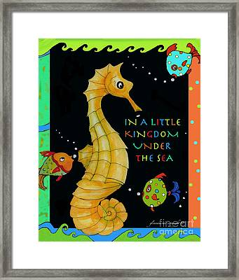 Framed Print featuring the painting Seahorse And Friends by Glenna McRae
