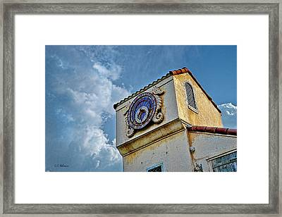 Seahorse Clock Framed Print by Christopher Holmes