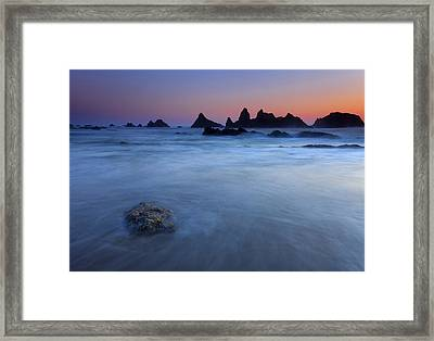 Seal Rock Dusk Framed Print