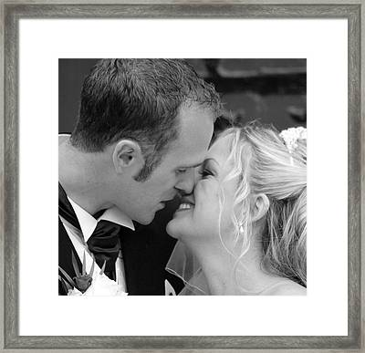 Sealed With A Kiss Framed Print by Karen Grist