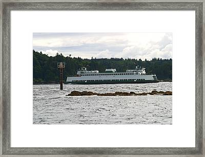 Sealth Ferryboat Rich Passage Framed Print by Kym Backland