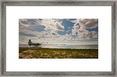 Seaplane In The Keys Framed Print by Patrick  Flynn